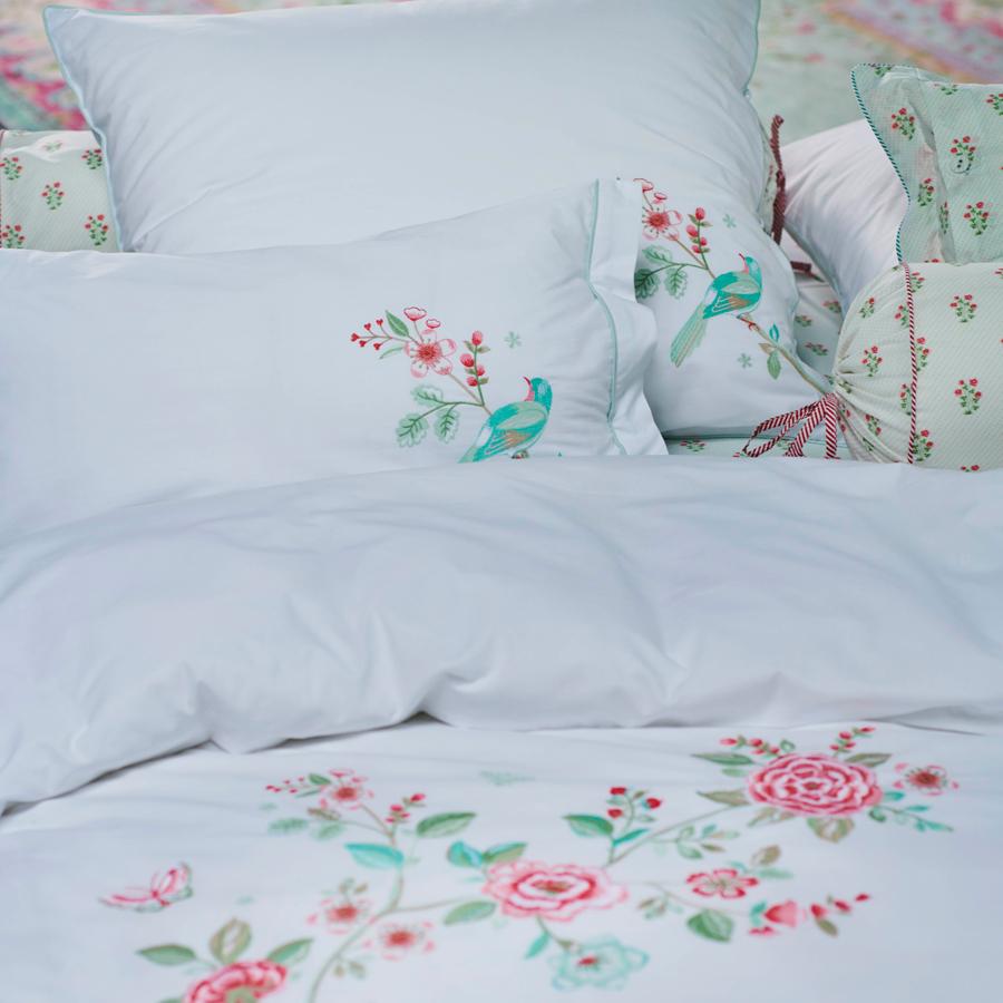 pip studio bettw sche good morning branch white online kaufen emil paula. Black Bedroom Furniture Sets. Home Design Ideas
