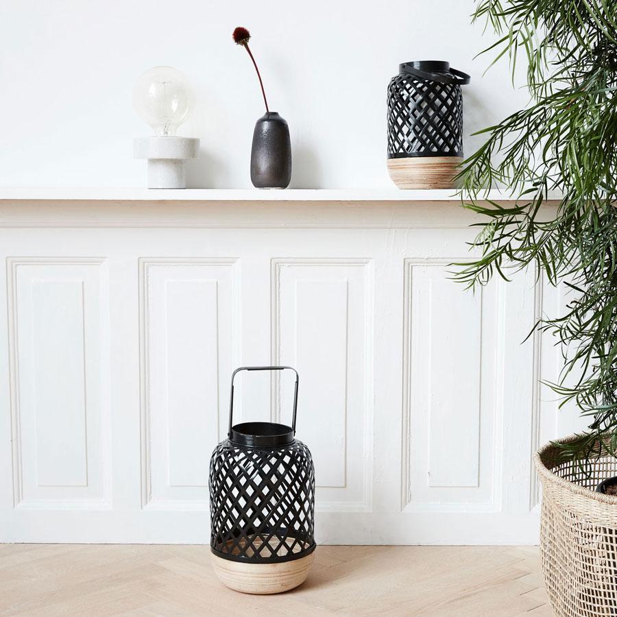 house doctor laterne breeze schwarz online kaufen emil paula. Black Bedroom Furniture Sets. Home Design Ideas