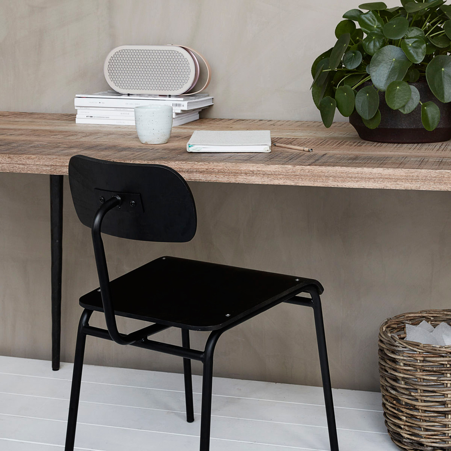 house doctor stuhl schule schwarz online kaufen emil paula. Black Bedroom Furniture Sets. Home Design Ideas