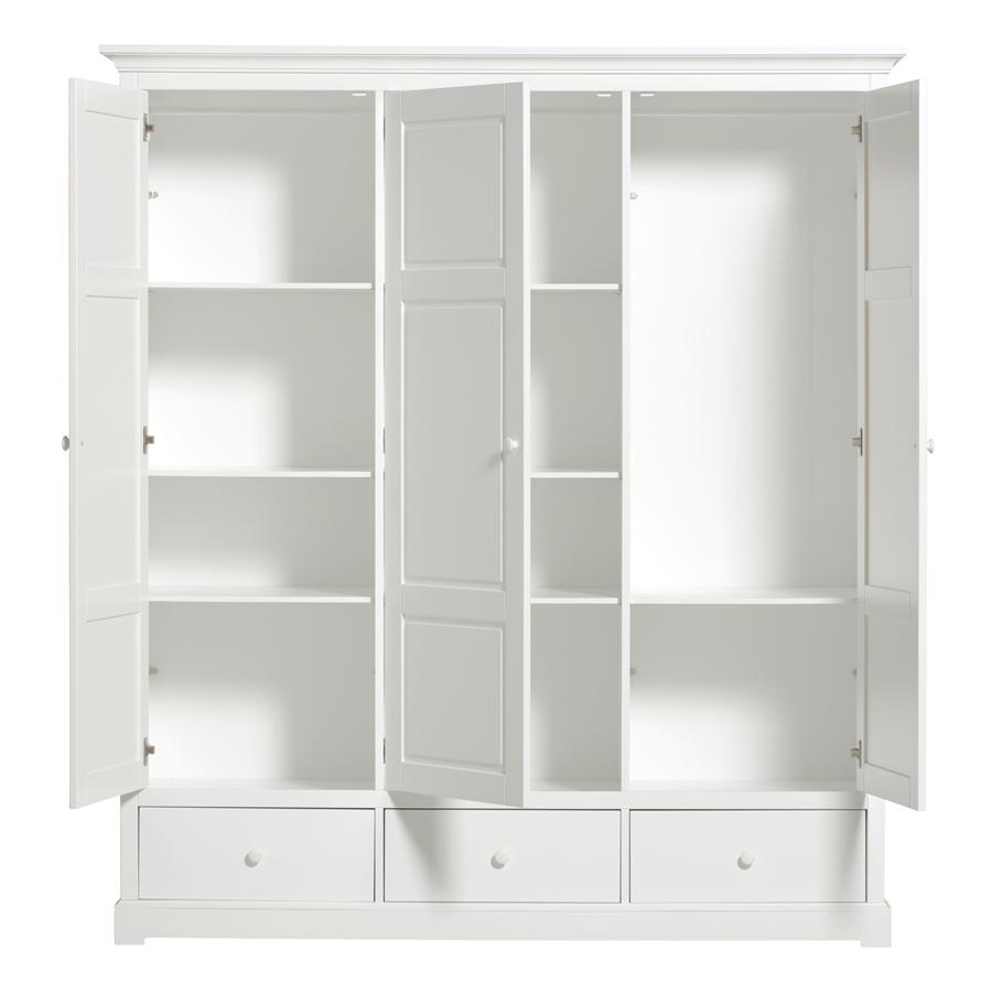 oliver furniture 3 t riger kleiderschrank wei hoch sofort lieferbar online kaufen emil paula. Black Bedroom Furniture Sets. Home Design Ideas
